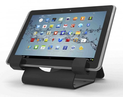 CL12UTHBB Compulocks UNIVERSAL SECURITY TABLET HOLDER BLACK - WITH SECURITY CABLE LOCK AND PLATE