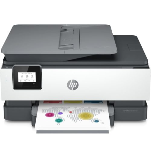 228G2D HP OfficeJet 8010e Colour Multifunction Inkjet Printer - A4, 28ppm, Duplex Printing, Wireless Network, Wi-Fi Direct, USB, 4-Ink System, Input Capacity: 225 Sheets, 35-Sheet ADF, 4800 x 1200dpi, White/Black, 1 Year Warranty