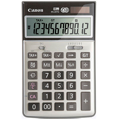 HS20TG Canon HS20TG 12 DIGIT DUAL POWER TAX FUNCTION, 80% RECYCLED MATERIAL