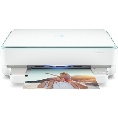 2K4W2A HP ENVY 6034e Colour Multifunction Inkjet Printer - A4, 10ppm, Duplex Printing, Wireless Network, USB, 2-Ink System, Input Capacity: 100 Sheets, 4800 x 1200dpi, White/Green, 1 Year Warranty