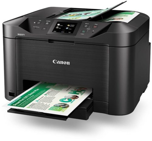 MB5160 Canon OFFICE MAXIFY MB5160 Colour Multifunction Inkjet Printer With Fax - A4, 24ppm, Duplex Printing & Scanning, Wireless & Wired Network, Wi-Fi Direct, USB, 4-Ink System, Input Capacity: 250 Sheets, 50-Sheet ADF, 1200 x 600dpi, Black, 1 Year Warranty