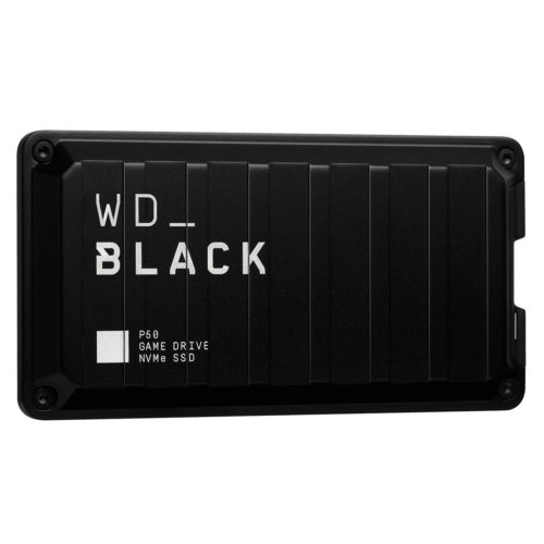WDBA3S5000ABK-WESN WD Black P50 500GB External Portable Game Drive SSD ~2000MB/s USB-C USB 3.2 Gen 2x2 Type C & Type A Durable Shock Resistant for PS4 Xbox One PC Mac 5y