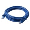 PL6A-3BLU 8ware Cat 6a UTP Ethernet Cable, Snagless - 3m Blue