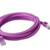 PL6A-3PUR 8ware Cat 6a UTP Ethernet Cable, Snagless - 3m Purple