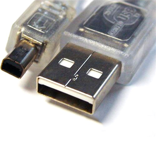 UC-2403ABN 8ware USB 2.0 Certified Cable A-B 4 Pin Mini 3m