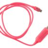 CK-VS802-PN Unbranded Visible Flowing Micro USB Charging Cable - Pink