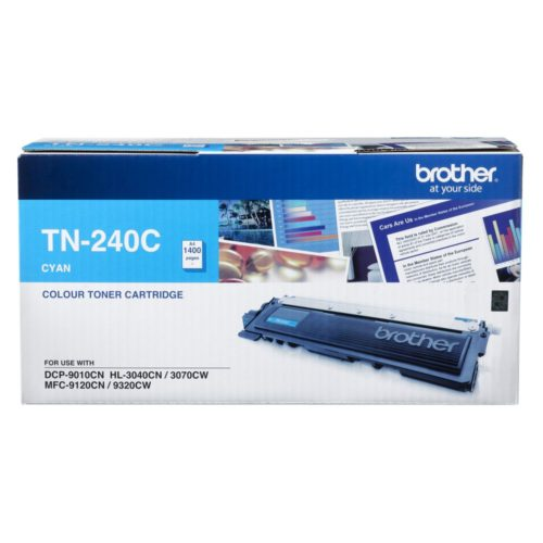 TN-240C Brother TN240 CYAN TONER 1,400 PAGE YIELD FOR 3070, 9120, 9320 & 9010