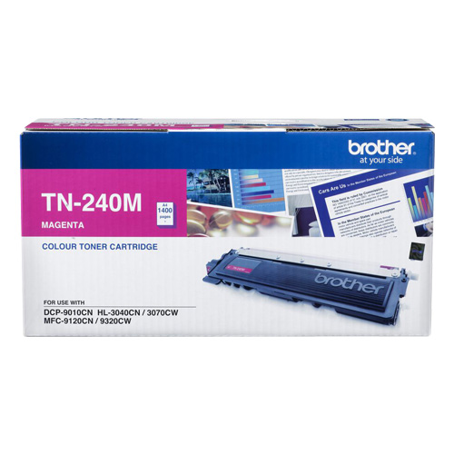 TN-240M Brother TN240 MAGENTA TONER 1,400 PAGE YIELD FOR 3070, 9120, 9320 & 9010