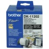 Brother WHITE SHIPPING/ NAME BADGE LABELS 62MM X 100MM 300 LABELS PER ROLL