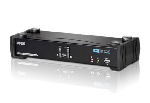CS1782A-AT-U ATEN 2 Port USB Dual-Link DVI KVMP Switch with 7.1 Audio and USB 2.0 Hub - Cables Included