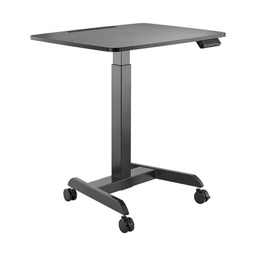 FWS08-3-B Brateck Electric Height Adjustable Workstation with casters