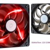 Cooler Master SickleflowX, Red LED Fan, 120mm,19dBA, 3 Pin, Sleeve Bering