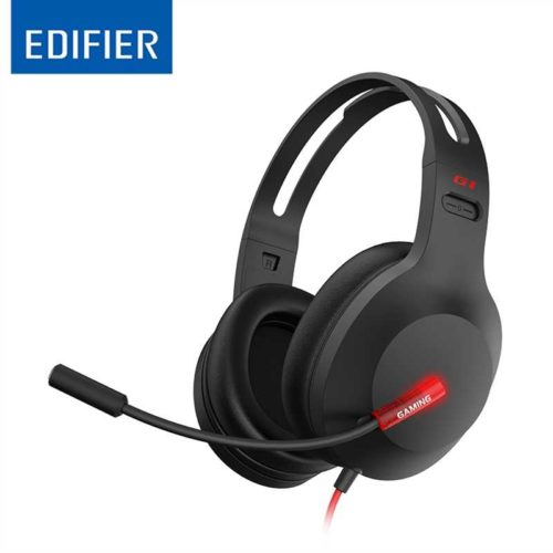 G1-BK Edifier G1 USB Professional Gaming Headset with Microphone - Noise Cancelling Microphone, LED lights - Ideal for PUBG, PS4, PC