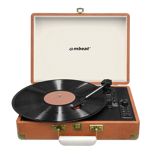 MB-USBTR128 mbeat Retro Turntable Recorder with Bluetooth And USB Direct Recording