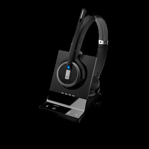 1000618 EPOS | Sennheiser Impact SDW 5064 DECT Wireless Office Binaural headset w/ base station, for PC & Mobile, with BTD 800 dongle