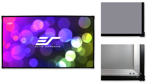 elite screens aeon cinegray 3d 4k edge free 16 9 fixed frame projection screens