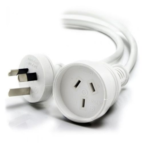 MF-PEXT-02R ALOGIC Aus 3 Pin Mains Power Extension Cable - Male to Female - White